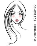 illustration of women long hair ... | Shutterstock .eps vector #521160430
