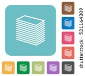 paper stack flat icons on... | Shutterstock .eps vector #521164309