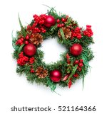 advent wreath on white...   Shutterstock . vector #521164366