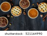 overhead view of three mini ...   Shutterstock . vector #521164990