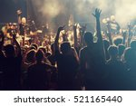 crowd at concert   cheering... | Shutterstock . vector #521165440