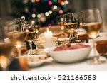 christmas dinner is served | Shutterstock . vector #521166583