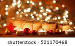 christmas background with... | Shutterstock . vector #521170468