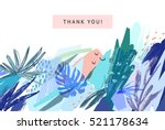 creative universal floral... | Shutterstock .eps vector #521178634