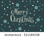 merry christmas card with... | Shutterstock .eps vector #521184238