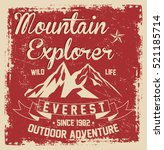 mountain explorer  outdoor... | Shutterstock .eps vector #521185714
