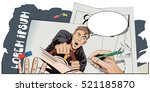 stock illustration. people in... | Shutterstock .eps vector #521185870