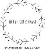 stylish christmas wreath.... | Shutterstock .eps vector #521187304