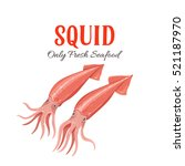 squid vector illustration in... | Shutterstock .eps vector #521187970