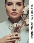 portrait of a beautiful girl... | Shutterstock . vector #521188546