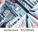 equipment  cables and piping as ... | Shutterstock . vector #521190466