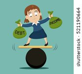 businesswoman trying to debt... | Shutterstock .eps vector #521190664