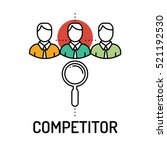 competitor line icon | Shutterstock .eps vector #521192530
