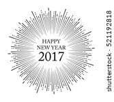 happy new year  vector | Shutterstock .eps vector #521192818