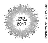 happy new year  vector | Shutterstock .eps vector #521192830