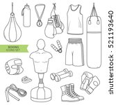 hand drawn collection of sports ... | Shutterstock .eps vector #521193640