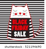 black friday sale banner with... | Shutterstock .eps vector #521194690