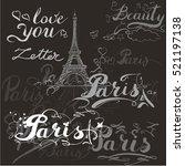 tour eiffel romantic vector... | Shutterstock .eps vector #521197138