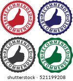 recommended label set  vector... | Shutterstock .eps vector #521199208