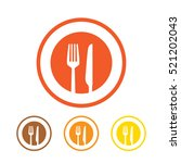 fork and knife icon vector | Shutterstock .eps vector #521202043