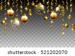 glass christmas evening balls... | Shutterstock .eps vector #521202070