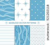 set of sea and nautical... | Shutterstock .eps vector #521202118