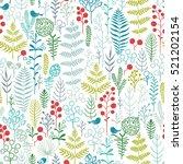 vector illustration of floral... | Shutterstock .eps vector #521202154