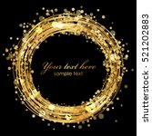 vector gold frame with sparkles | Shutterstock .eps vector #521202883