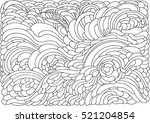 background with abstract waves. ... | Shutterstock .eps vector #521204854