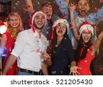 young people having fun at... | Shutterstock . vector #521205430