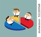 vector of businessman standing... | Shutterstock .eps vector #521205568