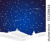 holiday christmas background... | Shutterstock . vector #521208616
