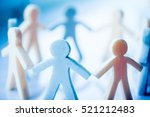 paper people chain concept of... | Shutterstock . vector #521212483