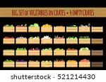 vector crates with fresh fruits ...   Shutterstock .eps vector #521214430