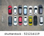 Stock photo empty parking lots aerial view 521216119