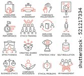 vector set of 16 icons related... | Shutterstock .eps vector #521217334