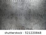 riveted metal background | Shutterstock . vector #521220868
