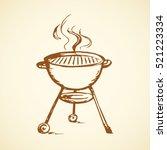 modern new blank circle grate... | Shutterstock .eps vector #521223334