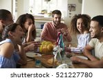 young adults laughing as they... | Shutterstock . vector #521227780