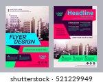 modern brochure layout design... | Shutterstock .eps vector #521229949