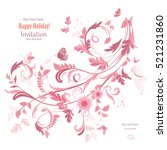 floral swirl ornament for your... | Shutterstock .eps vector #521231860