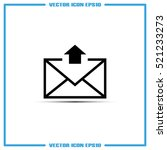 postal envelope icon vector... | Shutterstock .eps vector #521233273