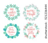 merry and bright  happy... | Shutterstock .eps vector #521236444
