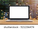 conceptual workspace  laptop...   Shutterstock . vector #521236474