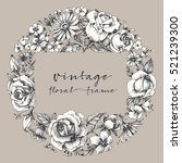 vintage flower frame  space for ... | Shutterstock .eps vector #521239300