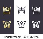 set of overlapping line and... | Shutterstock .eps vector #521239396
