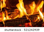 burning firewood in the... | Shutterstock . vector #521242939