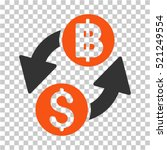 dollar baht exchange icon.... | Shutterstock .eps vector #521249554