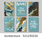 set of merry christmas and... | Shutterstock .eps vector #521250220