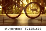 glasses laying on a table in... | Shutterstock . vector #521251693